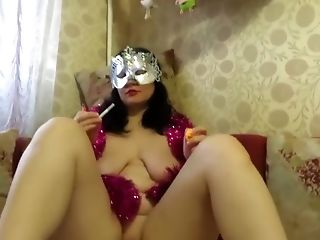 Babe, Fisting, Funny, Mask, Pussy, Smoking,