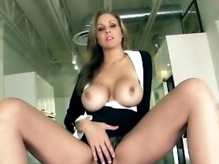 Big Tits, Blonde, Dick, HD, High Heels, Jerking, Julia Ann, Lingerie, Masturbation, MILF,