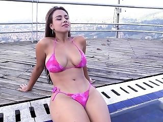 Ass, Babe, BBW, Big Tits, Bikini, Colombian, Curvy, Ethnic, Latina, Outdoor,