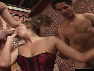 Anal Sex, Ass, Fishnet, Hardcore, Lingerie, Mandy Bright, Mmf, Natural Tits, Stockings, Threesome,