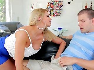 Big Tits, Blonde, Blowjob, Bukkake, Cum Swallowing, Cumshot, Deepthroat, Dick, Facial, Fake Tits,