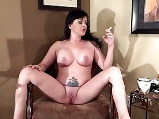 Big Tits, Cigarette, HD, Legs, Mature, MILF, Smoking, Spreading,