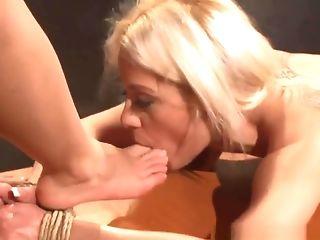 Babe, BDSM, Blonde, Boobless, European, Femdom, Fetish, Lesbian, Lezdom, Sex Toys,