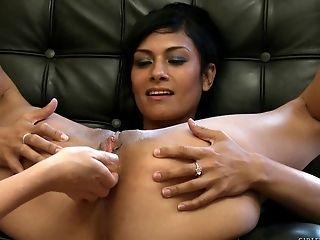 Bra, Close Up, Fingering, Lesbian, Licking, Lingerie, Natural Tits, Nylon, Pornstar, Pussy,