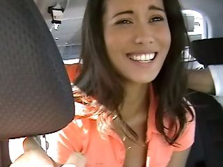 Amateur, Blowjob, Brunette, Car, Cute, Long Hair, Nikki Price, Skinny, Striptease, Tanned,