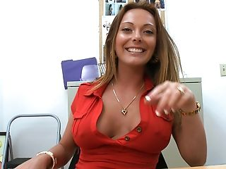 Audition, Blowjob, Desk, Dick, Legs, Lindsey Lovehands, Masturbation, MILF, Mom, Office,