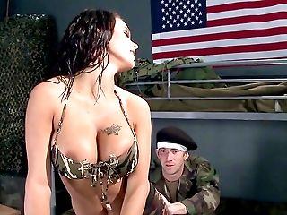 Babe, Big Tits, Blowjob, Brunette, Deepthroat, Doggystyle, Fake Tits, Footjob, Hardcore, HD,