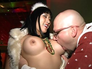 Amateur, Ass, Babe, Club, Dancing, Esmi Lee, Flashing, Money, Party, Santa,