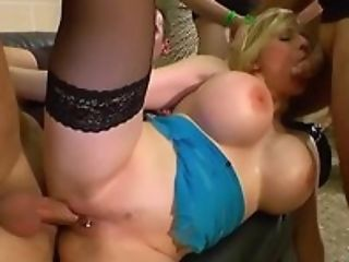 All Holes, Big Tits, Blonde, Blowjob, Bukkake, Cum, Cum In Mouth, Cumshot, Dick, Double Penetration,