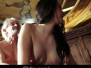 Adorable, Babe, Blowjob, Close Up, Cum, Cum On Tits, Cumshot, Cunnilingus, Grandpa, Handjob,