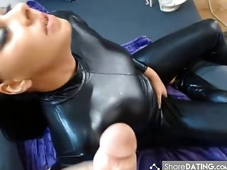 Blowjob, Catsuit, Latex, Leather, MILF, POV, Sexy,