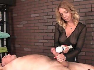 Blonde, Couple, Dick, Handjob, Massage, MILF, Sex Toys, Vibrator,