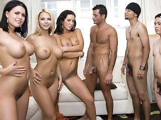 Ashlynn Brooke, Big Tits, Blonde, Brunette, Eva Angelina, Facesitting, Ffmm, Group Sex, Jayden Jaymes, Orgy,