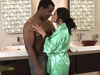 Bathroom, Big Black Cock, Ethnic, Interracial, Jessica Bangkok, Massage, MILF, Money, Nuru, Shower,