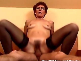 Blowjob, Boy, Cumshot, Dick, Ginger, Granny, HD, Lingerie, Mature, MILF,