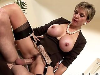 Big Cock, British, Cum, Cumshot, Fucking, Mature, MILF, Riding, Threesome, Titjob,