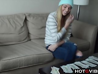 Backstage, Behind The Scenes, Big Tits, Blonde, Jeans, Model, Money, Natural Tits, Solo,
