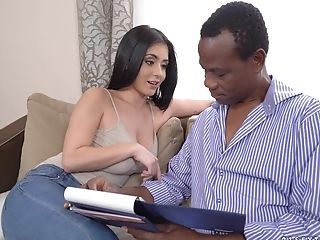 Big Black Cock, Big Cock, Big Tits, Black, Blowjob, Brunette, Couple, Cowgirl, Doggystyle, Hardcore,