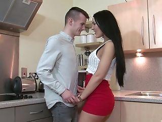 Couple, Game, Gorgeous, Kitchen, Long Hair, Miniskirt,