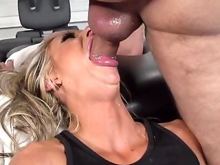 Big Tits, Blonde, Blowjob, Coach, Courtney Taylor, Deepthroat, Facial, Fake Tits, Gym, Hardcore,