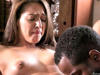 Ass, Black, Couple, Cowgirl, Cute, Face Fucking, Hardcore, Interracial, Missionary, Natural Tits,