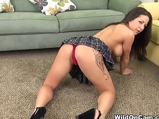 Big Ass, Big Tits, Brunette, Charity Bangs, Dildo, Masturbation, Pornstar, Sex Toys, Solo,